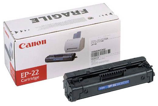 Картридж лазерный Canon EP-22/1550A003, черный, 2500 страниц, оригинальный, для Canon LBP-1120 / 800 / 810