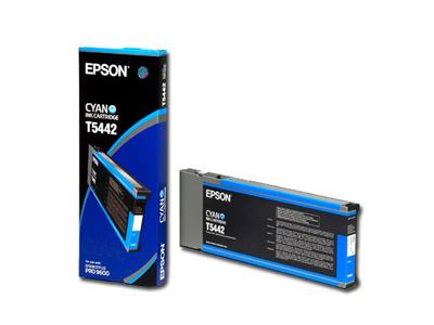 Картридж струйный Epson T5442 (C13T544200), голубой, оригинальный, объем 220мл, для Epson Stylus Pro 4000 / 4400 / 9600