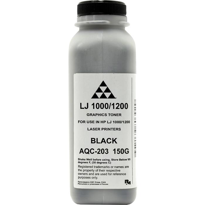 Тонер AQC AQC-203, банка 150г, черный, совместимый, для LJ 1000 / 1200