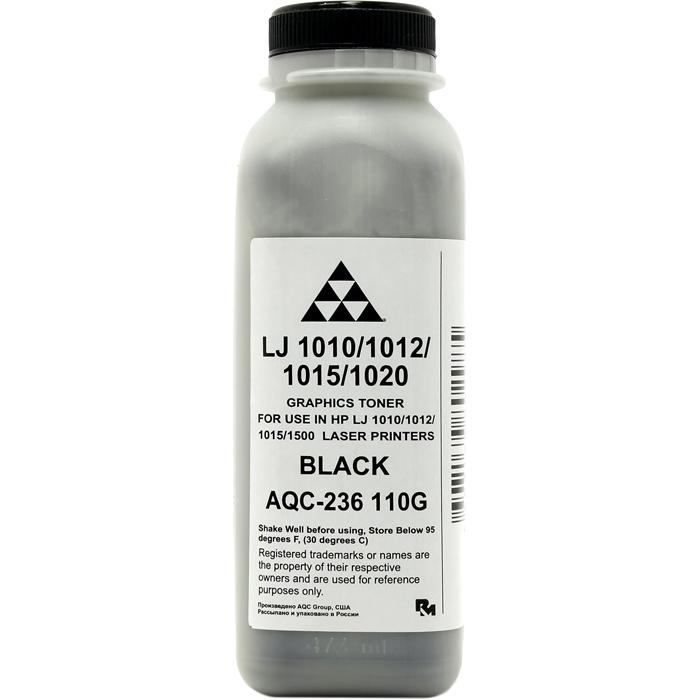 Тонер AQC AQC-236, банка 110г, черный, совместимый, для LJ 1010 / 1012 / 1015 / 1020