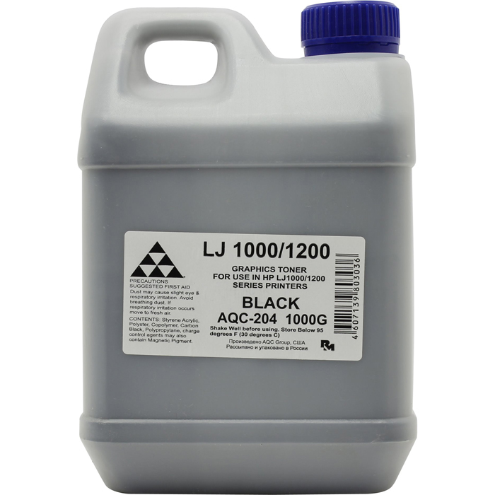 Тонер AQC AQC-204, канистра 1кг, черный, совместимый, для LJ 1000 / 1200