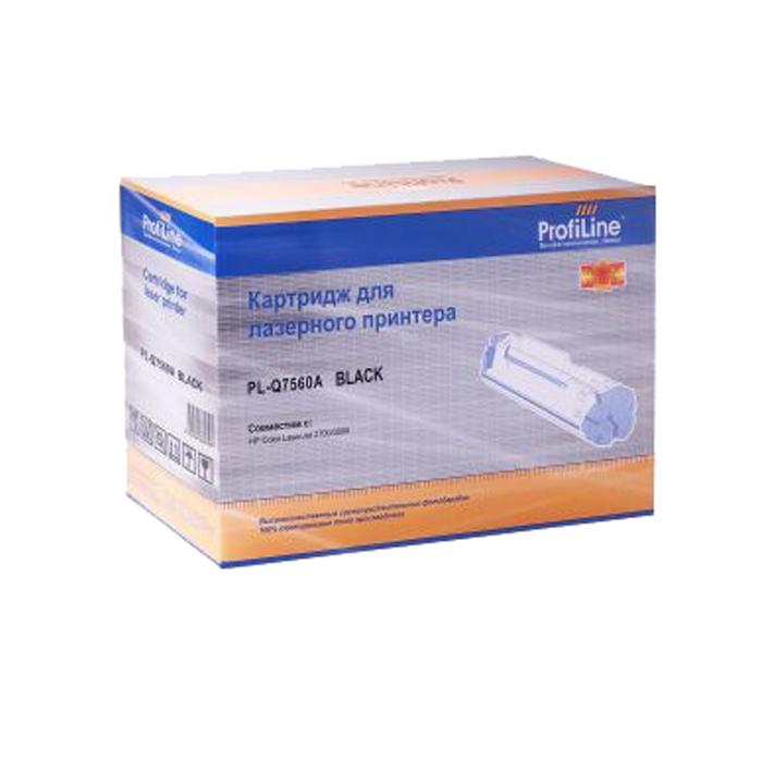 Картридж лазерный ProfiLine PL-Q7560A, черный, 6000 страниц, совместимый, для CLJ 2700 / 3000 / 3000N / 3000DN / 3000DTN