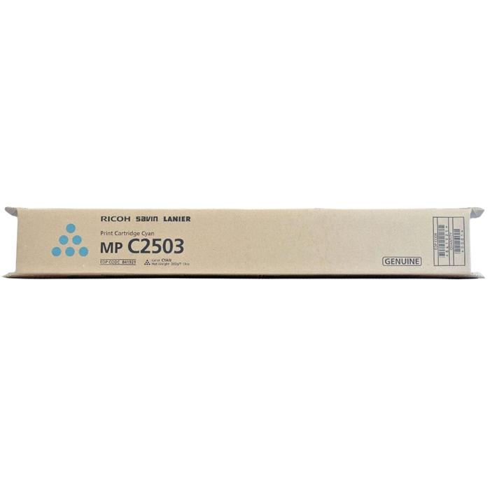 Картридж лазерный Ricoh MP C2503 C/841931, голубой, 5500 страниц, оригинальный, для Ricoh Aficio-MPC2003 / MPC2503 / C2011