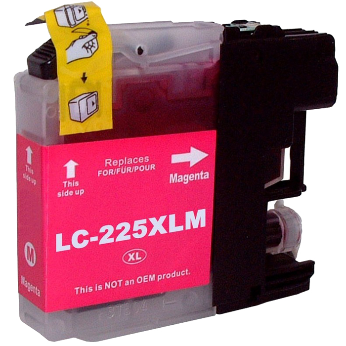 Картридж струйный Cactus CS-LC225XLM (LC225XLM), пурпурный, совместимый, 1200 страниц, для Brother DCP-J4120DW / MFC-J4420DW / J4620DW