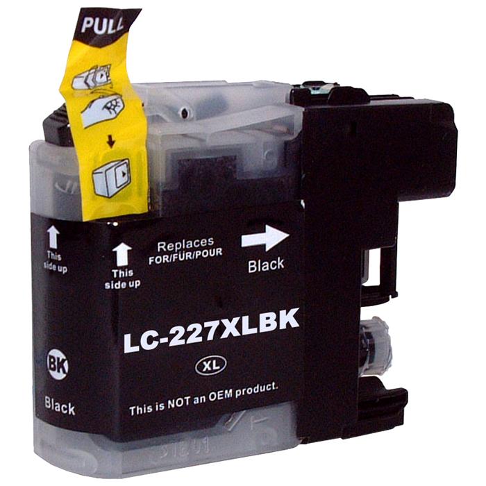 Картридж струйный Cactus CS-LC227XLBK (LC227XLBK), черный, совместимый, 1200 страниц, для Brother DCP-J4120DW / MFC-J4420DW / J4620DW