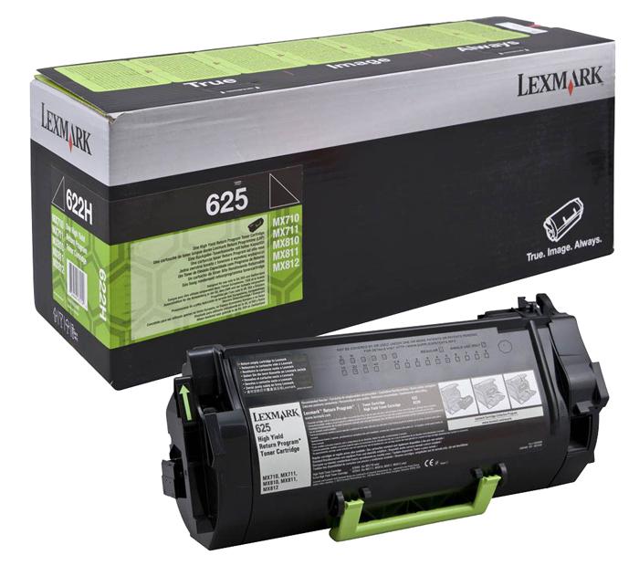Картридж лазерный Lexmark 62D5H00, черный, 1шт., 25000 страниц, оригинальный, для Lexmark MX710 / MX711 / MX810 / MX811 / MX812