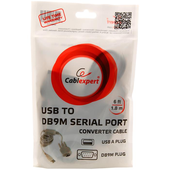 Кабель-адаптер Gembird/Cablexpert UAS111, USB-COM, 1.8m