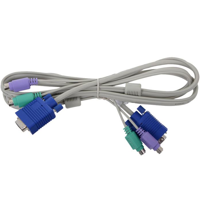 Кабель TRENDnet TK-C10 для KVM переключателей (PS/2+PS/2+VGA15M, 3.0м)