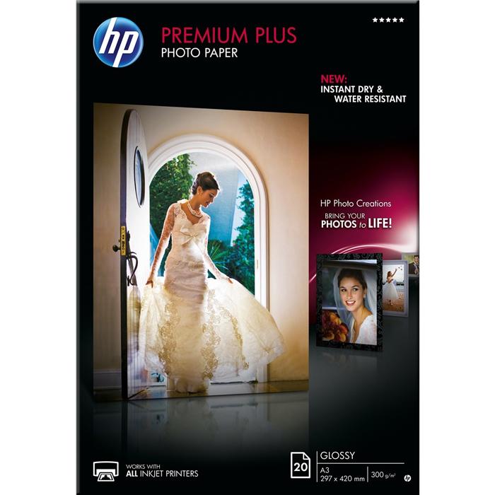 Фотобумага A3 300г/м2 глянцевая, 20 листов, односторонняя, HP CR675A для струйной печати