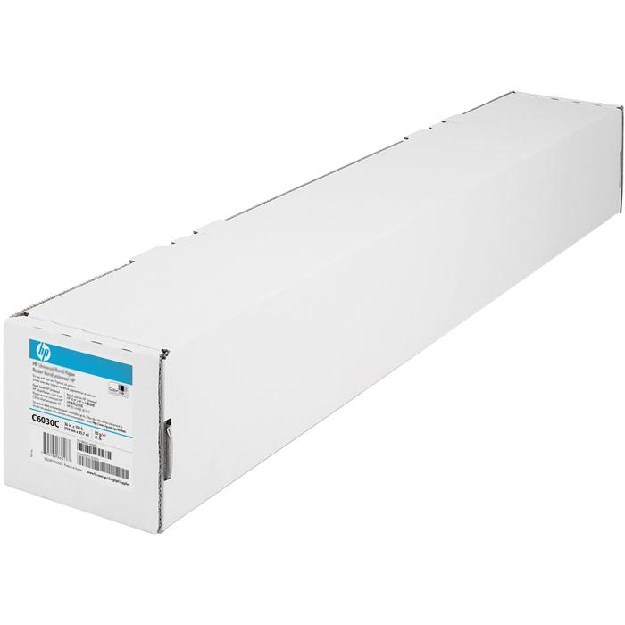 "Бумага рулон 36""(914мм) x 30.5м, 130г/м2, матовая, HP Heavyweight Coated Paper (C6030C)"