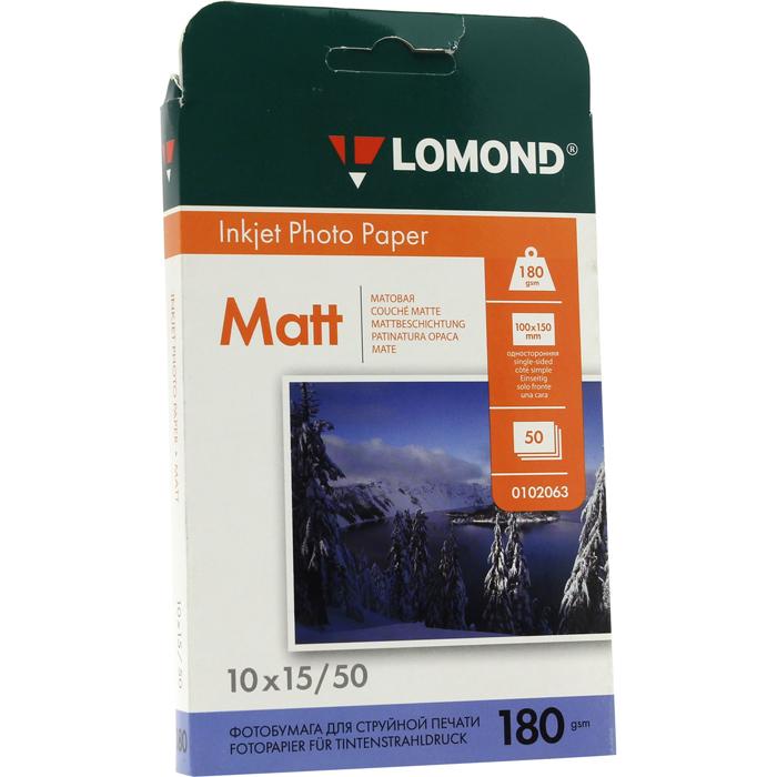 Бумага Lomond Paper Matte A6, 180g/m2, (50л) (0102063)