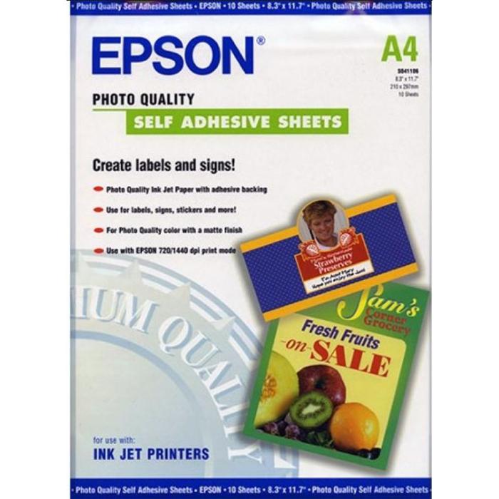 Фотобумага A4 167г/м2 матовая, 10 листов, односторонняя, Epson S041106/C13S041106 для струйной печати