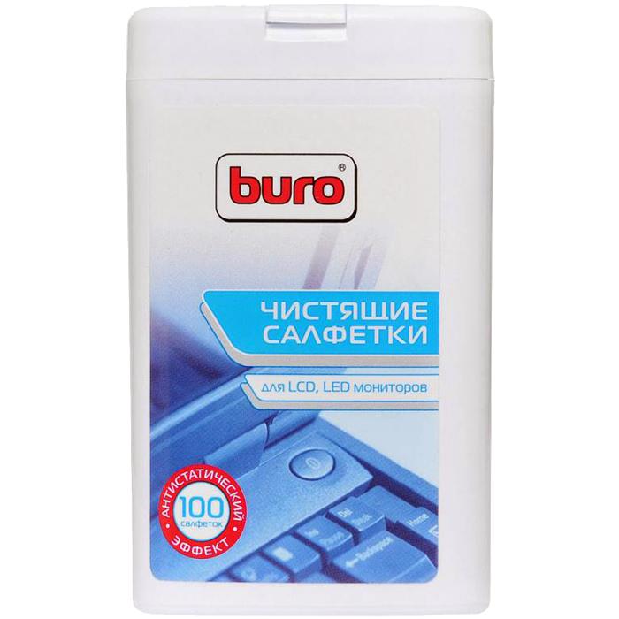 Салфетки влажные 100шт. для экранов BU-TFT Buro