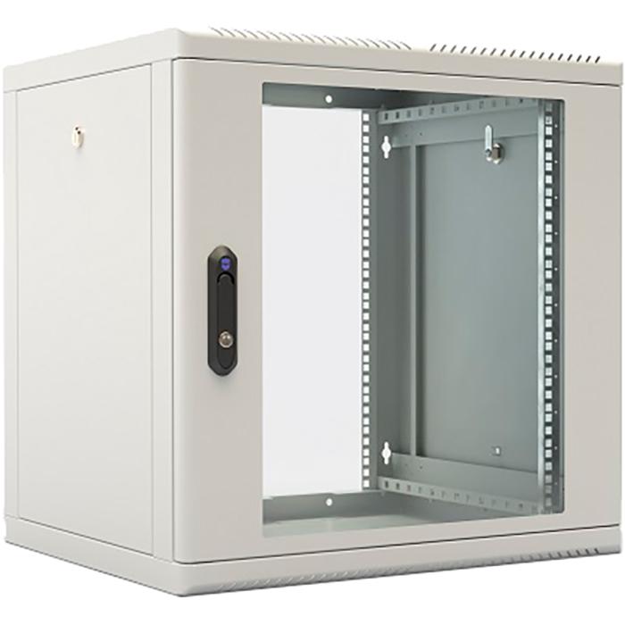 Шкаф настенный 15U 600x650, стекло/металл, серый, разборный, ШРН-М-15.650 (30144247506), ЦМО, ШРН-М