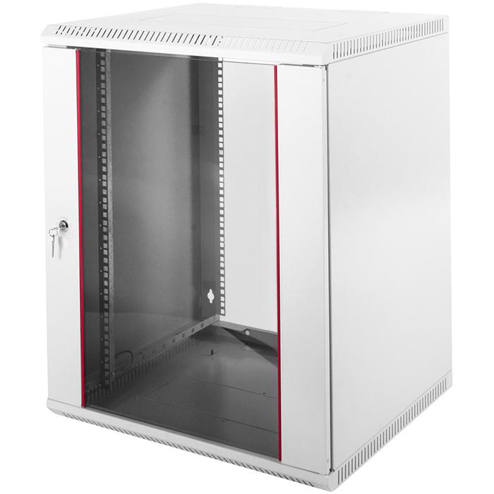 Шкаф настенный 15U 600x650, стекло/металл, серый, разборный, ШРН-Э-15.650 (30144233710), ЦМО, ШРН-Э