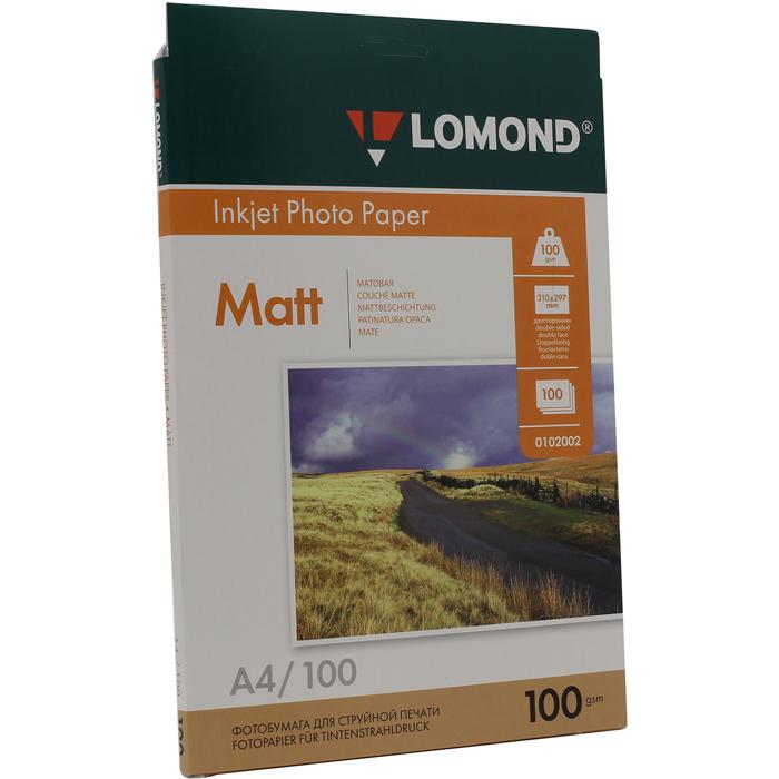 Бумага Lomond Paper Matte A4 100g/m2 (100л) (0102002)