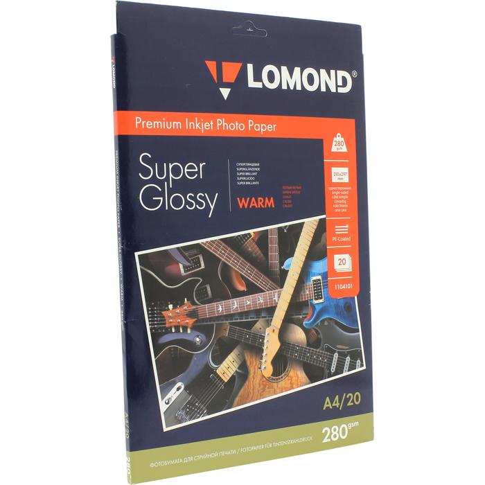 Бумага Lomond Paper Super Glossy A4, 280g/m2 (20л) (1104101)