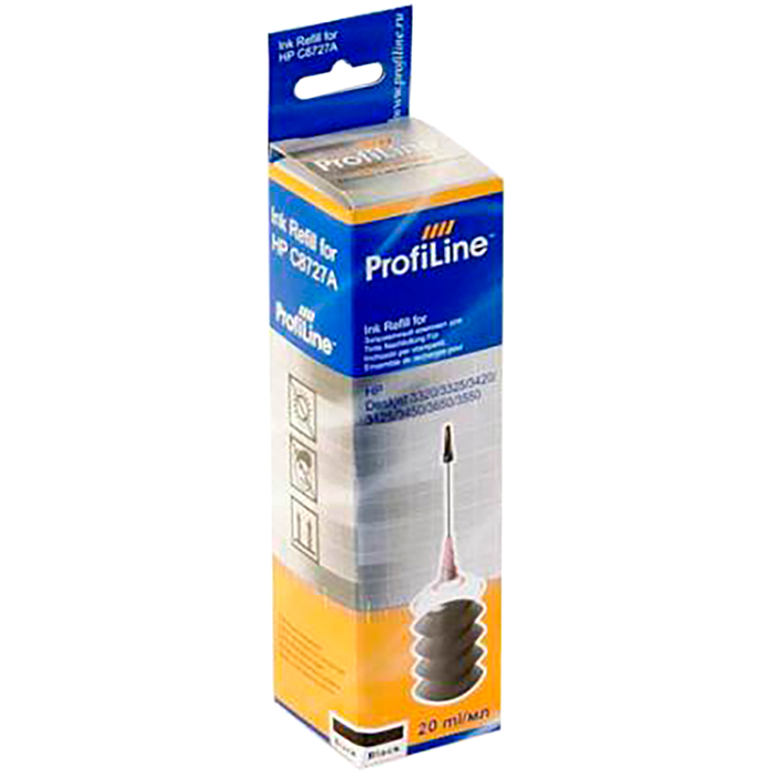 Заправочный набор струйный ProfiLine PL-INK-C8727A 1*20мл, 20мл, черный для DJ 3320/3325/3420/3425/3550/3650/3320/3325 (C8727A) совместимый
