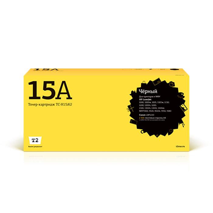 Картридж лазерный T2 TC-H15A (15A/C7115A), черный, 2500 страниц, совместимый, для 1000/1200/1220/3300/3310/3320/3330/3380/1000W/1005W/1220/Canon LBP-1210, с чипом
