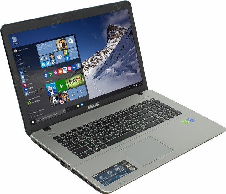"""Ноутбук ASUS X751LB 17.3"""" 1600x900, Intel Core i7-5500U 2.4GHz, 6Gb RAM, 1Tb HDD, DVD-RW, GeForce 940-2Gb, WiFi, BT, Cam, W10 (90NB08F5-M03690)"""