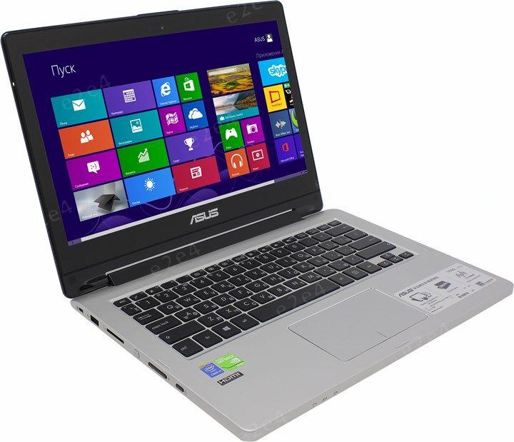"Ноутбук-трансформер ASUS Transformer Book Flip TP300LD-DW068H 13.3"" 1366x768, Intel Core i5-4210U 1.7GHz, 6Gb RAM, 1Tb HDD, GeForce 820M-2Gb, WiFi, BT, Cam, W8.1, черный (90NB06T1-M01900)"