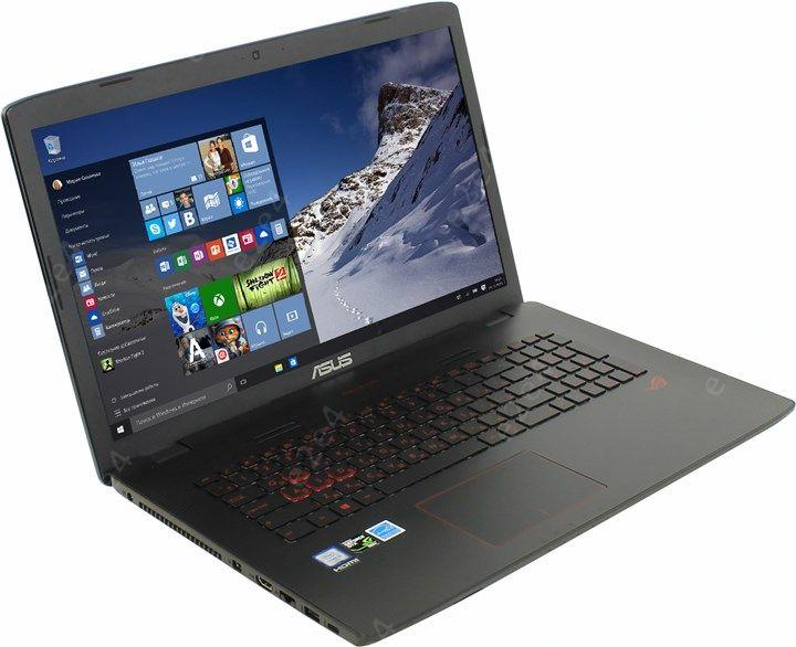 """Ноутбук ASUS ROG GL752VW-T4236T 17.3"""" 1920x1080, Intel Core i5-6300HQ 2.3GHz, 8Gb RAM, 2Tb HDD+128Gb SSD, DVD-RW, GeForce GTX 960M-2Gb, WiFi, BT, Cam, W10 (90NB0A42-M03120)"""