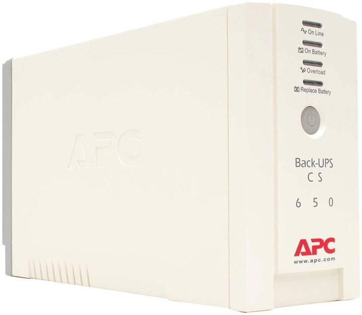 ИБП APC Back-UPS CS, 650VA, 400W, IEC, USB, белый (BK650EI)