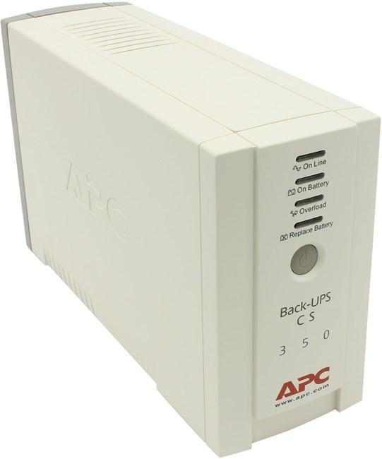 ИБП APC Back-UPS CS, 350VA, 210W, IEC, белый (BK350EI)
