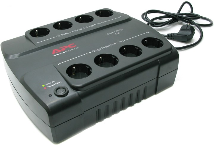 ИБП APC Back-UPS ES, 400VA, 240W, EURO, черный (BE400-RS)
