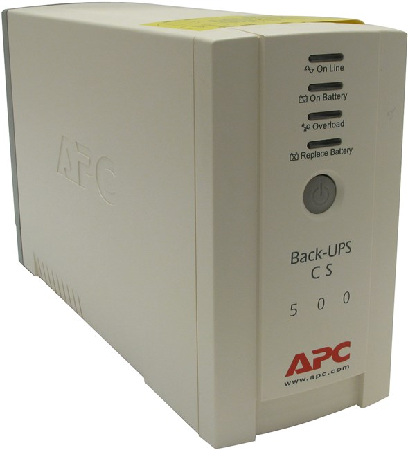 ИБП APC Back-UPS CS, 500VA, 300W, IEC, белый (BK500EI)