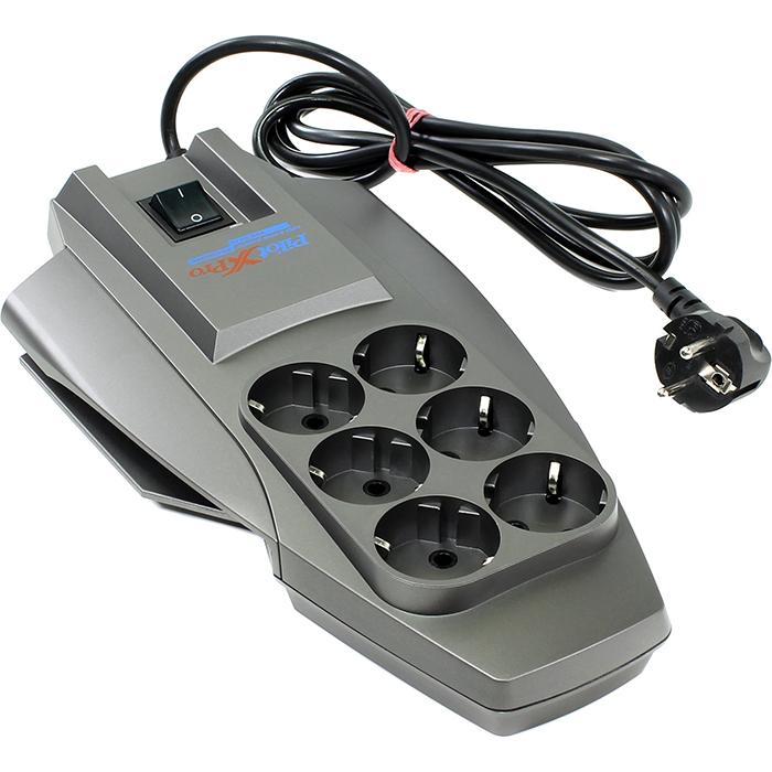Сетевой фильтр Zis Pilot-X Pro, 6-розеток, 1.8m, серый