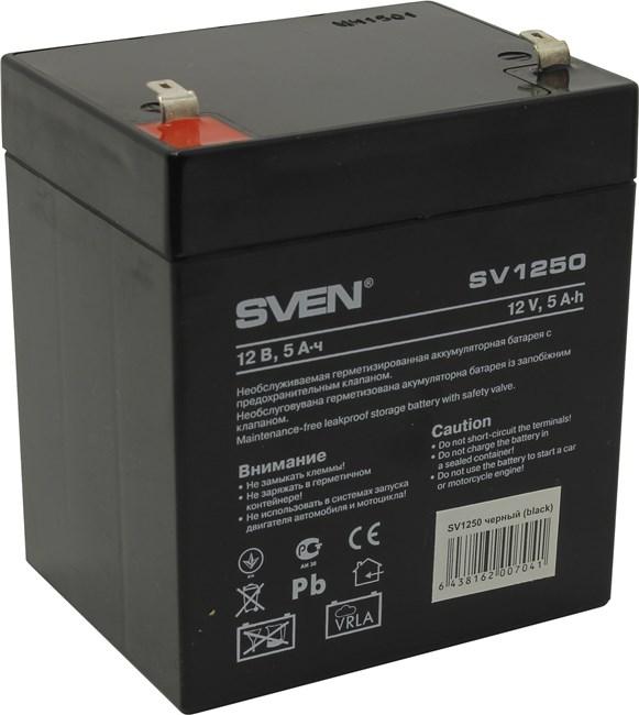 Аккумуляторная батарея Sven SV1250, 12V, 5Ah (SV-0222005)