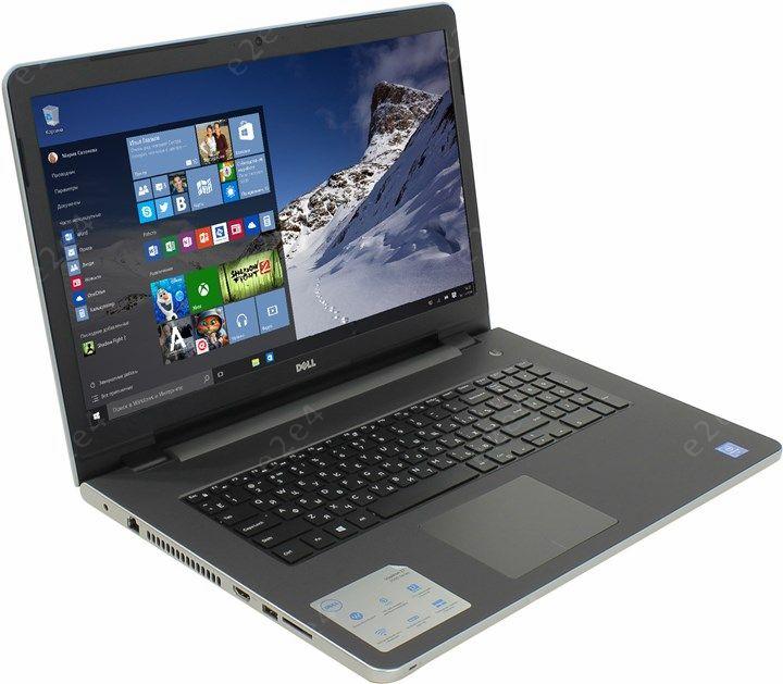 "Ноутбук Dell Inspiron 5758 17.3"" 1600x900, Intel Pentium 3825U 1.9GHz, 4Gb RAM, 500Gb HDD, DVD-RW, WiFi, BT, Cam, W10, серебристый (5758-2778)"