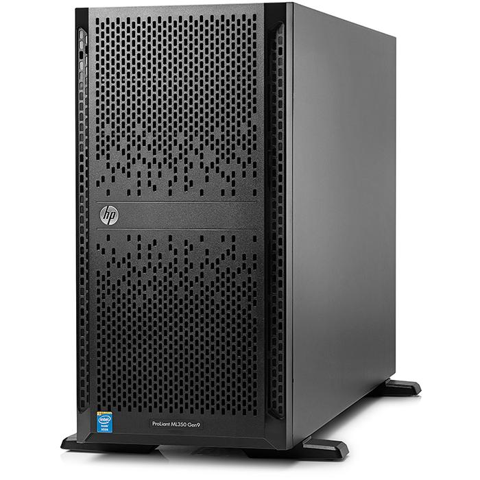Сервер HPE ML350 Gen9, 1xIntel Xeon E5-2620V4 (up2), 1x16Gb RAM, noHDD, 8x2.5 HS, P440ar/2G, noDVD, 4GLAN, 1x500W (up2), Tower (835263-421)