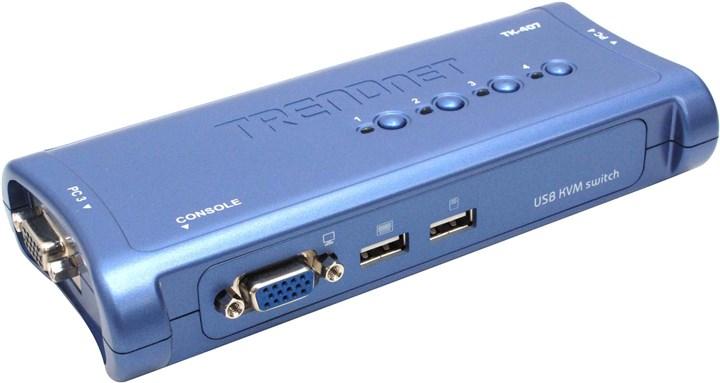 Переключатель TRENDnet TK-407K, 4-port KVM Switch with Cable kit