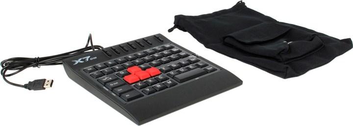 Клавиатура проводная A4Tech X7-G100, мембранная, USB, черный