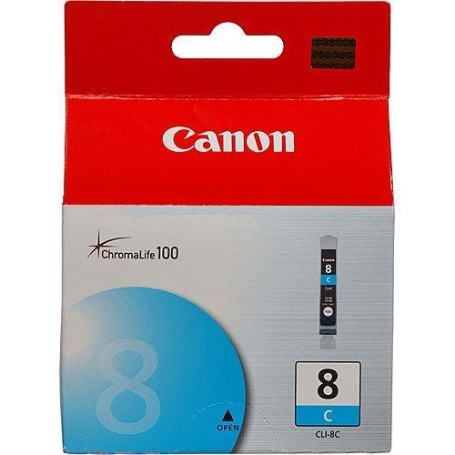 Картридж струйный Canon CLI-8C (0621B024), голубой, оригинальный, ресурс 490 страниц, для Canon PIXMA-iP3300 / iP3500 / iP4200 / iP4300 / iP4500 / iP5200 / iP5300 / iP6600 / iP6700 / iX4000 / iX5000 / MP500 / MP510 / MP520 / MP530 / MP600 / MP610 / MP800 / MP810 / MP830 / MP970 / MX700 / MX850 / Pro9000
