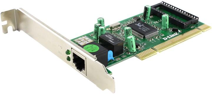 Сетевая карта D-link DGE-530T, 1xRJ-45, 1 Гбит/с, PCI, bulk