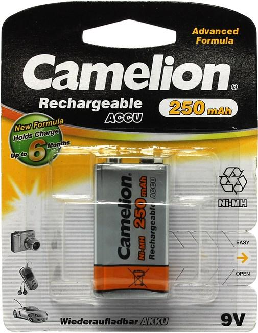 Аккумулятор Camelion NH-9V250BP1, Крона, 9V 250mAh 1шт.