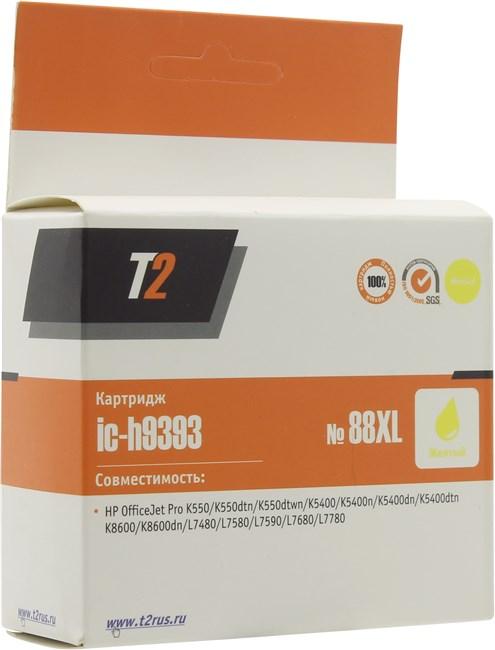 Картридж T2 IC-H9393 №88XL для OfficeJet Pro K550/K5400/K8600/L7480/L7580/L7680/L7780, желтый