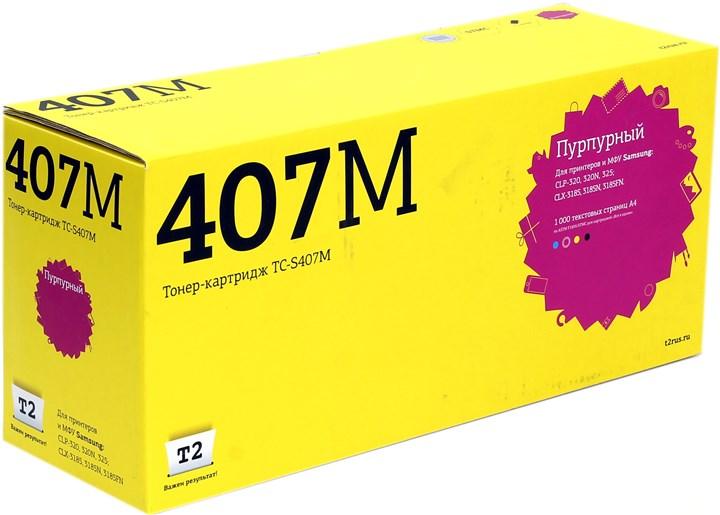 Картридж T2 TC-S407M для Samsung CLP-320/325/CLX-3185, 1000 стр., пурпурный, с чипом