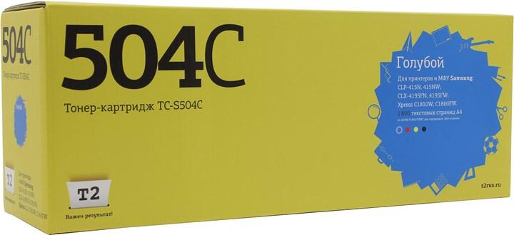 Картридж T2 TC-S504C для Samsung CLP-415/CLX-4195/Xpress C1810W, 1800 стр., голубой, с чипом