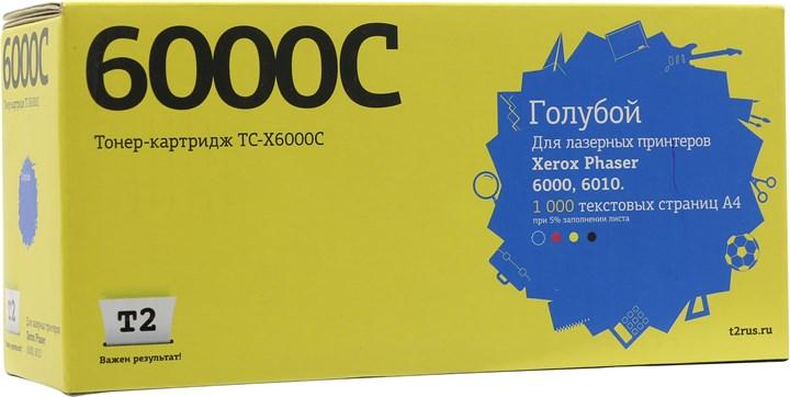 Картридж T2 TC-X6000C ( 106R01631) для Xerox Phaser 6000/6010/WC6015, 1000 стр., голубой, с чипом