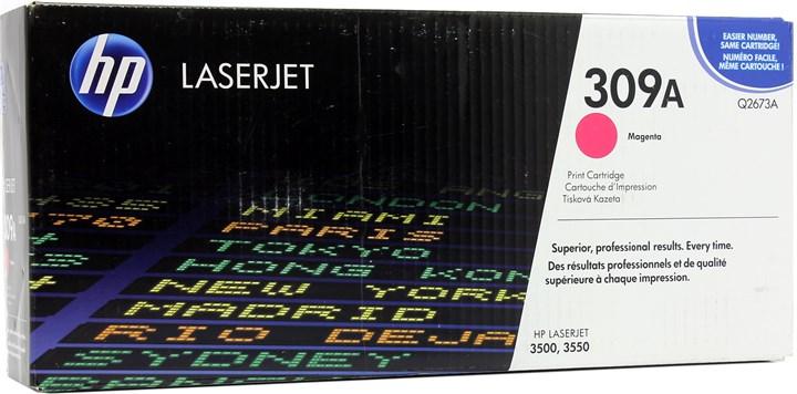 Картридж лазерный HP 309A/Q2673A, пурпурный, 1шт., 4000 страниц, оригинальный, для HP Color LaserJet 3550n / 3500