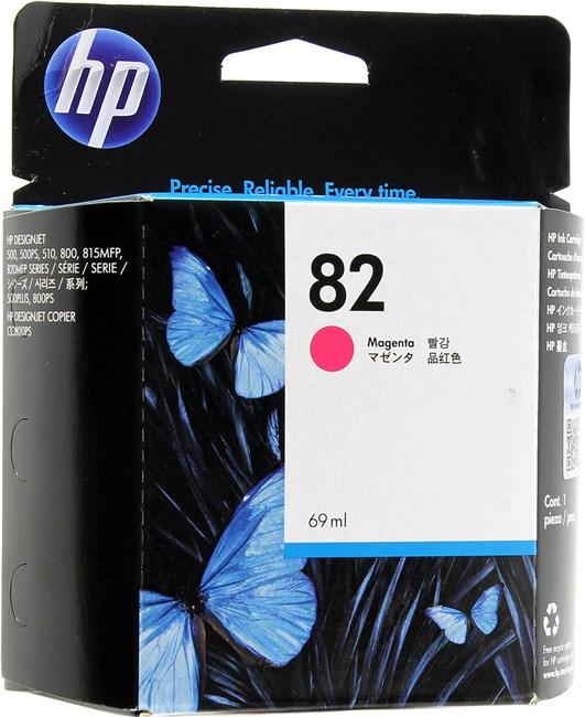 Картридж струйный HP 82 (C4912A), пурпурный, оригинальный, объем 69мл, для HP Designjet 820 MFP / 500 Plus / 500ps Plus / 510 / 510ps / 800 / 800ps /500 / 8415 MFP / cc800ps