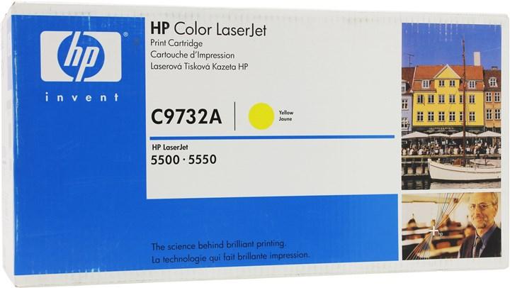 Картридж лазерный HP 645A/C9732A, желтый, 1шт., 12000 страниц, оригинальный, для HP Color LaserJet 5550hdn / 5550 / 5550dn / 5550dtn / 5550n / 5500 / 5500dn / 5500dtn / 5500hdn / 5500n
