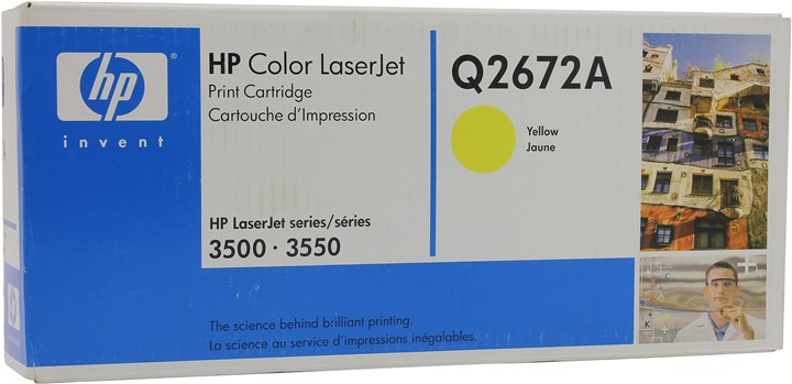 Картридж лазерный HP 309A/Q2672A, желтый, 1шт., 4000 страниц, оригинальный, для HP Color LaserJet 3550n / 3500