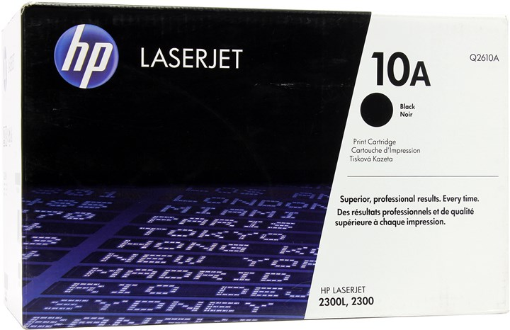 Картридж лазерный HP 10A/Q2610A, черный, 1шт., 6000 страниц, оригинальный, для HP LaserJet 2300l / 2300