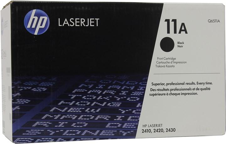 Картридж лазерный HP 11A/Q6511A, черный, 1шт., 6000 страниц, оригинальный, для HP LaserJet 2420dn / 2420 / 2420d / 2420n / 2430dtn / 2430t / 2430tn