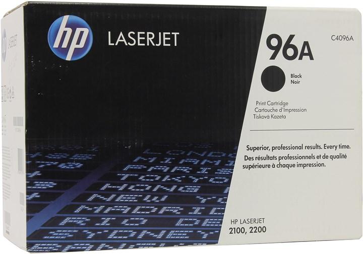 Картридж лазерный HP 96A/C4096A, черный, 1шт., 5000 страниц, оригинальный, для HP LaserJet 2100 / 2100m / 2100tn